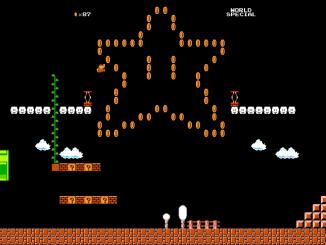 Super Mario, sur télévision connecté.